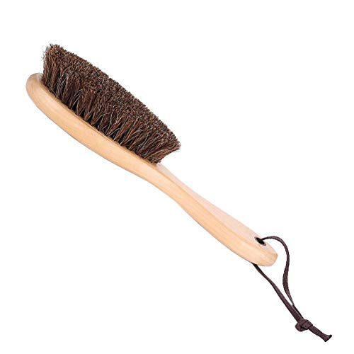 Kxtffeect Natural Horsehair Shoes Brush Leather Cleaning Brush with Long Wood Handle for Upholstery, Cleaner Car Interior, Upholstery Furniture, Shoes,Leather Clothes,Handbags, - Advantage Soft Jacket