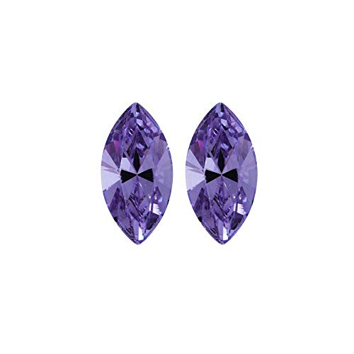 Navette Fancy Stone - Swarovski Crystal, 4228 Xilion Navette Fancy Stone 8x4mm, 2 Pieces, Tanzanite F