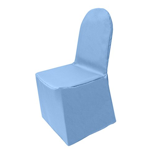 Ultimate Textile (10 Pack) Polyester Banquet Chair Cover - for Wedding or Party use, Sky Light Baby Blue by Ultimate Textile