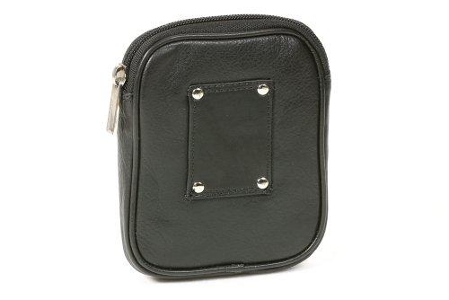 Line'' pack black Waist bag ''LEAS Travel Bum bag Bag Leather Travel LEAS Genuine Belt pouch 6pxnTn