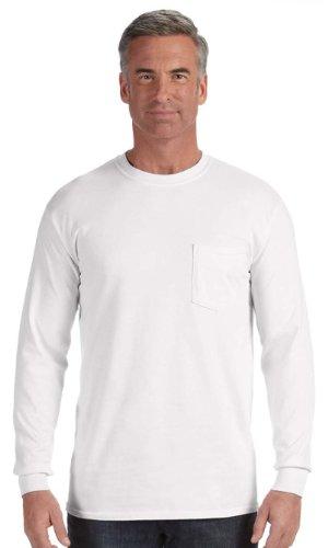 Comfort Colors C4410 Long-Sleeve Pocket T-Shirt - White -