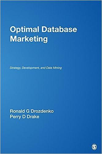 Optimal Database Marketing: Strategy, Development, and Data ...
