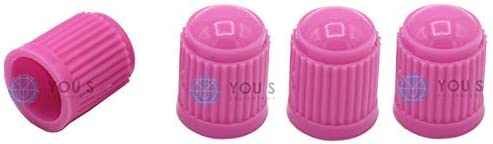 You S Kunststoff Ventilkappen Pink Ventil Kappen Abdeckung Für Auto Pkw Lkw 4 Stück Auto