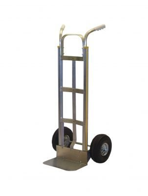 Milwaukee Hand Trucks 45118 Modular Aluminum Dual Handle Truck with 8-Inch Mold-on ()