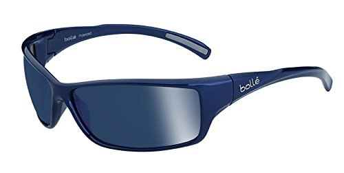 Bolle Slice Sunglass with Polarized Offshore Blue Oleo AR Lens, Shiny - Sunglasses Bolle Men's Polarized
