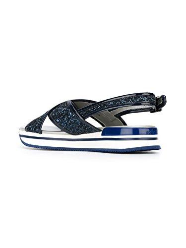 Hogan Mujer HXW2570U450L04U810 Azul Purpurina Sandalias