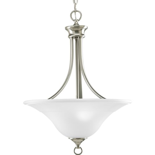 Progress Lighting P3474-09 3-Light Hall and Foyer Fixture, Brushed Nickel