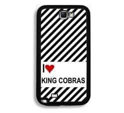 Love Heart King Cobras Samsung Galaxy Note 2 Note II N7100 Case - Fits Samsung Galaxy Note 2 Note II N7100
