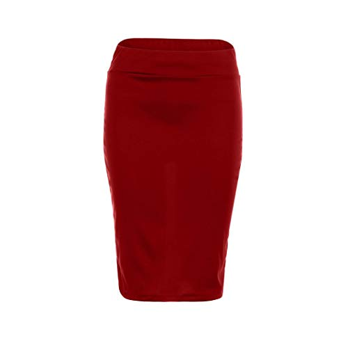iYYVV Women High Waist Skinny Stretchy Bodycon Knee-Length Pencil Office Hip Skirt by iYYVV (Image #2)