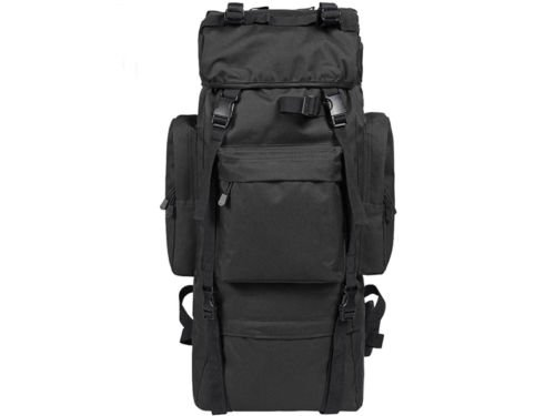 80L Outdoor Military Rucksacks Tactical Bag Camping Hiking Trekking Backpack/Black by Unknown