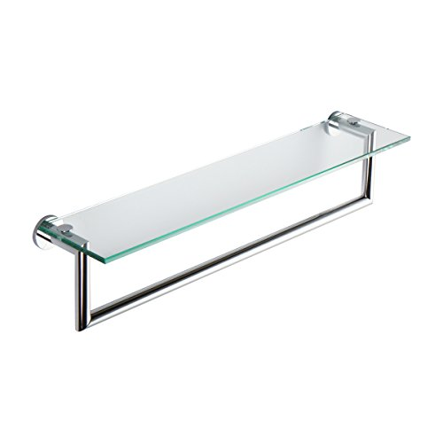 Ginger 4619T-24/PC Kubic Toiletry Shelf with Towel Bar, 24'', Polished Chrome by Ginger