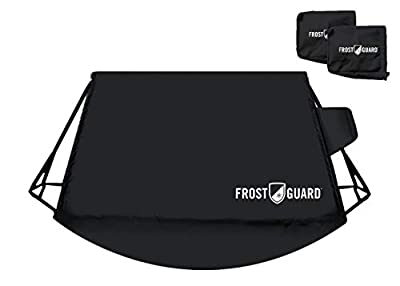 FrostGuard Signature   Premium Winter Windshield Cover with Security Panel and Wiper Cover, Protects from Snow, Ice and Frost