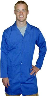 - StaticTek 5049 Light Blue Fabric ESD Safe Snap Cuffs Collared Lab Coat-Certified Level 3 Static Shielding ESD Smock Jacket for Anti-Static Work Places,4X-Large | TT_JLC5408SPLB