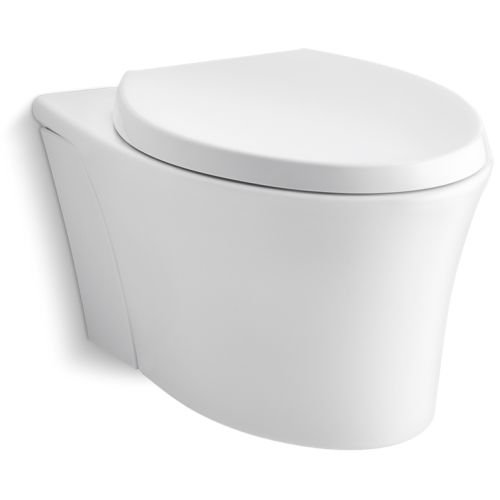 Kohler K-66299-0 Veil Wall Hung Elongated Toilet Bowl