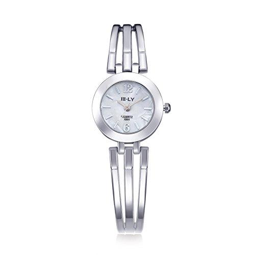 Rockyu ブランド レディース 女性 サファイアガラス 海外ブランド シルバー レディース時計