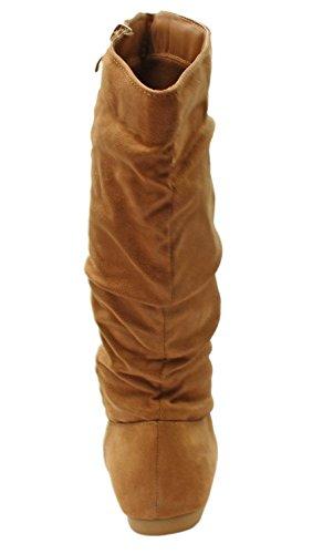 Titan Mall Forever Selena-23 Dames Slip Op Mid-craft Winterrijlaarzen (6 B (m) Us, Tan)