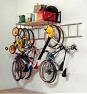 Delicieux 4 Foot Garage Storage Shelf And Bike Rack With Ladder Hooks