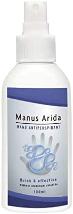 Antiperspirant for hands by Manus Arida I 100% natural I Sweat block 100ml I Hand antiperspirant I organic skin care & best natural skin care products