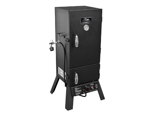 Gas Porcelain Coated Smoker - 2