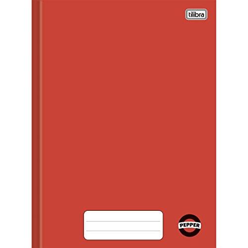 Caderno Brochura Capa Dura, Tilibra, Pepper, 60 Folhas, Tamanho Universitário (20x27 cm), Vermelho, Pautado, 1 Matéria