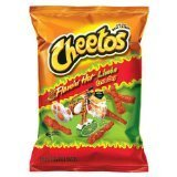 Cheetos Flamin' Hot Limon Crunchy 9oz Bag (Pack of 4)