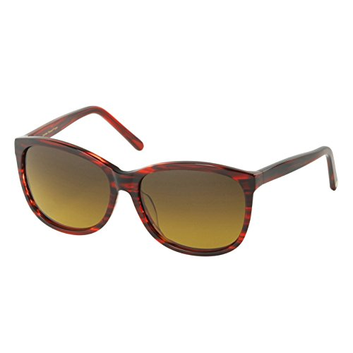 Eagle Eyes CARINA Oversized Sunglasses - Cranberry Tortoise Polarized Sunglasses for Ultimate Style and - Futuristic 50s Style