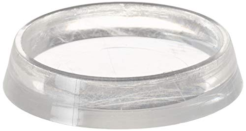 Shepherd Hardware 9087 1-7/16-Inch Smooth Plastic Furniture Cups, Clear, 4-Pack