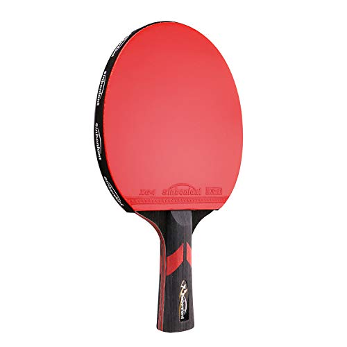 For Sale! Professional Table Tennis Racket Paddle Wood/Carbon Fiber Blade Flared Handle 7 Star Ping ...