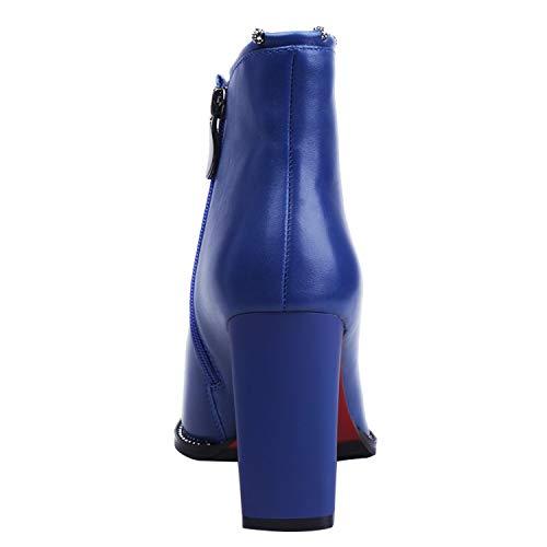 casa Azul 38 Piel Talla Mujer Estar de TUO Color para Zapatillas ZAPROMA por 001 Otra de awOYTUqgp
