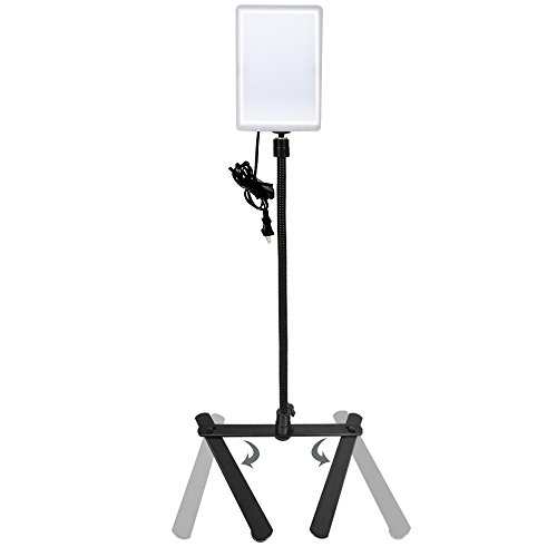 LimoStudio LED Light Panel with Goose Neck Extension Adapter, Mini Table Top Camera Light Stand, Seamless Studio Matte Cyclorama Module Background Tray, Photo Video Lighting Studio Kit, AGG2240 by LimoStudio (Image #3)