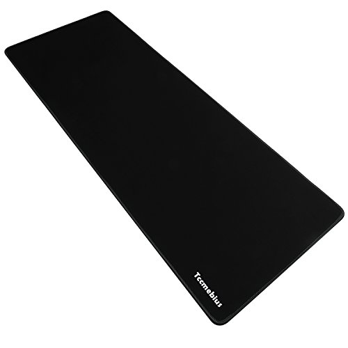 Tccmebius Extended Gaming Mouse Pad, Computer Keyboard Mousepad Mouse Mat, Water-Resistant, Non-Slip Rubber Base Cloth, Ideal for Gaming, Thick X-Large 30.71x11.81×0.12 inch (Black, (Drop Down Keyboard)
