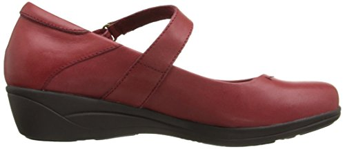 Hush Puppies Womens Blanche Oleena Slip-on Mocassino In Pelle Rosso Scuro