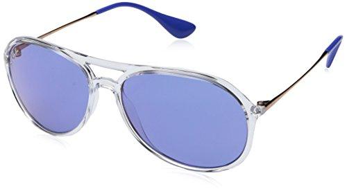 Ray-Ban Men's Alex Non-Polarized Iridium Aviator Sunglasses, Transparent, 59.2 - Ban Ray Rb3561