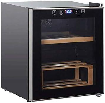 YFGQBCP 42L termoeléctrica rojo y blanco del refrigerador de vino, independiente Nevera con pantalla LCD Touch Control Digital, un funcionamiento silencioso Termostato, doble capa de vidrio templado h