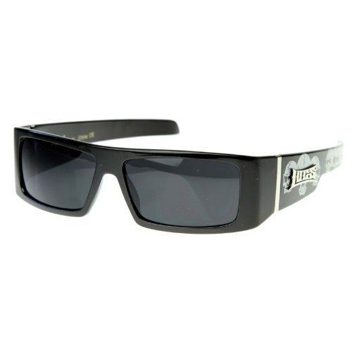 Skull Sunglasses Black Frames - 6