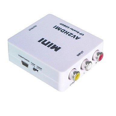 Composite AV CVBS 3RCA to HDMI Video Converter Mini Adapter 720p 1080p Upscaler