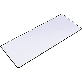 XYK White Gaming Mouse Pad Large Size ( 800x300x3mm ) Extended Gamer Mouse Mat with Non-slip Rubber Base, Special-Textured Surface, Support for Computer, PC and Laptop - White