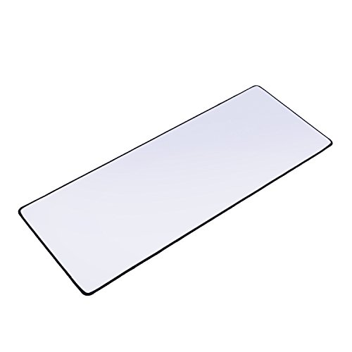 XYK-White-Gaming-Mouse-Pad-Large-Size-800x300x3mm-Extended-Gamer-Mouse-Mat-with-Non-slip-Rubber-Base-Special-Textured-Surface-Support-for-Computer-PC-and-Laptop---White