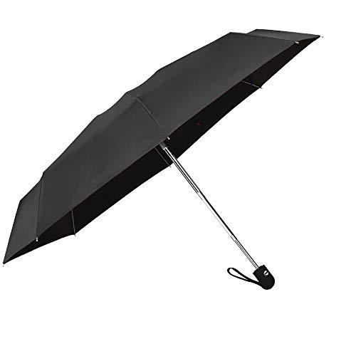 Travel Mini Umbrella Windproof Automatic Umbrellas Auto Open Close Lightweight Portable Sun&Rain Floding Compact Umbrella for Women Men Kids(Black)