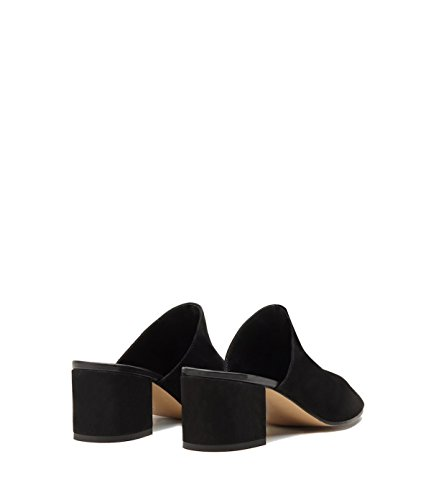 PoiLei Women's Shoes Mules Coco Leather Black with Block Heel -Made in Italy- WjHBYHGh