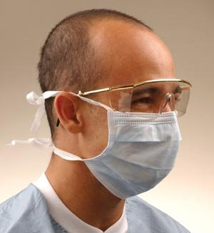 Crosstex International GCS Tie-On Surgical Mask Blue 50/Bx