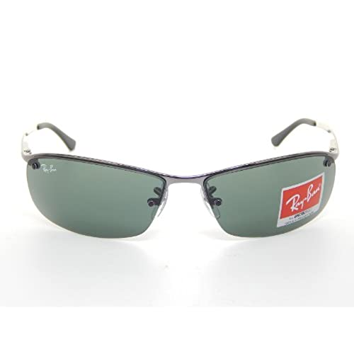 50%OFF New Ray Ban Top Bar RB3183 004/71 Gunmetal/ Green 63mm