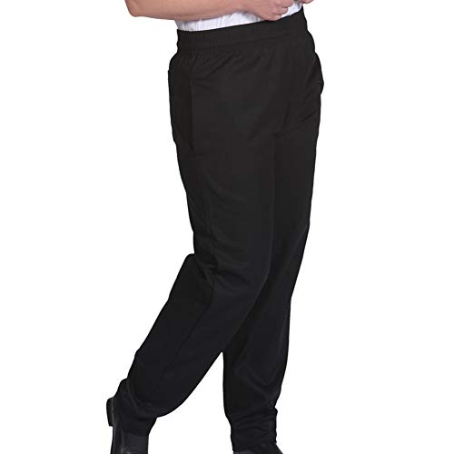 Eagle Black Classic Baggy Chef Pants With Zip Fly (XL) -