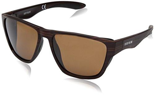 Body Glove Men's Brosef Polarized Wayfarer Sunglasses, Striped Opaque Browne, 57 - Body Glove Sunglasses Polarized