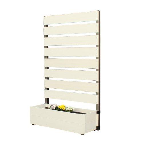 プランタボックス付コンフォートフェンス 幅90センチx高さ150センチ 板間隔3センチ ホワイト B009EKZM1O 22600