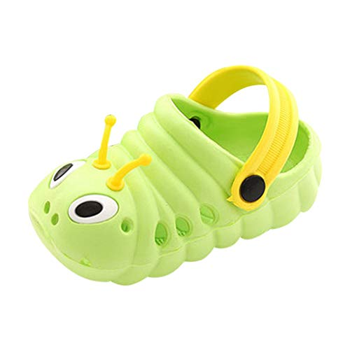 (Baby Sandals, Toddler Slippers Boys Girls Flip Flops Summer Shoes Cute Cartoon Beach Shoes Green)