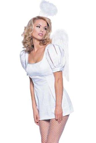 Leg Avenue Princess Angel Dress (WHITE, Size M (8-10))