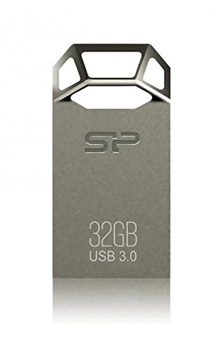 Silicon Power 32GB Jewel J50 USB3.0 Zinc-Alloy Compact USB Flash Drive Titanium Edition by Silicon Power (Image #2)'