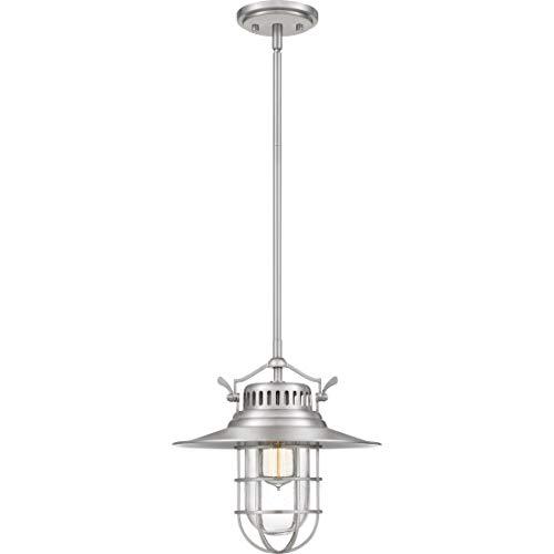 Lighting Mini Quoizel Light Chandelier - Quoizel CKSB1513BN Starboard Ship Lantern Mini Pendant Ceiling Lighting, 1-Light, 100 Watt, Brushed Nickel (13