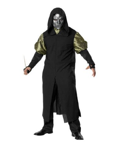 Rubie's Costume Co Men's Harry Potter Deathly Hollows Death Eater Adult Costume, Black, One Size (Hollow Mask Costumes)